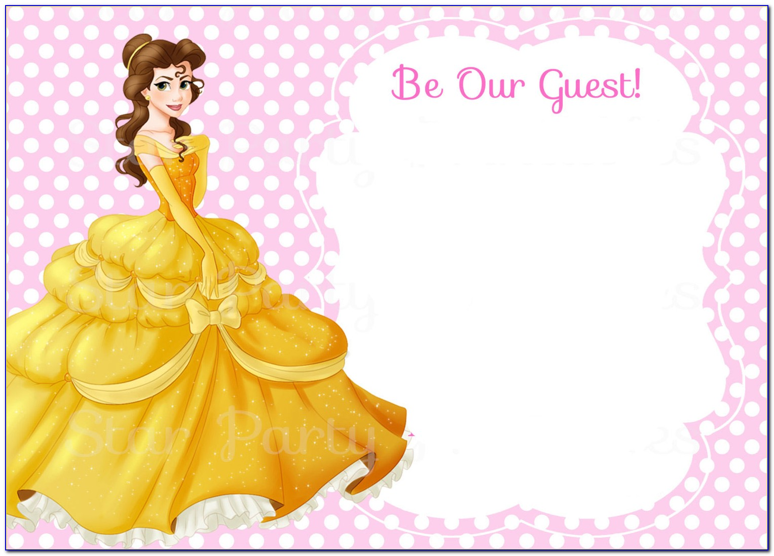 Beauty And The Beast Wedding Invitation Template