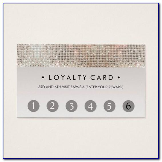 Beauty Loyalty Card Template
