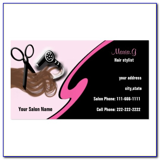 Beauty Salon Business Card Template Free Download