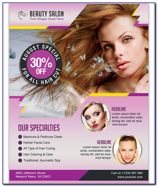 Beauty Salon Flyer Template Free Download