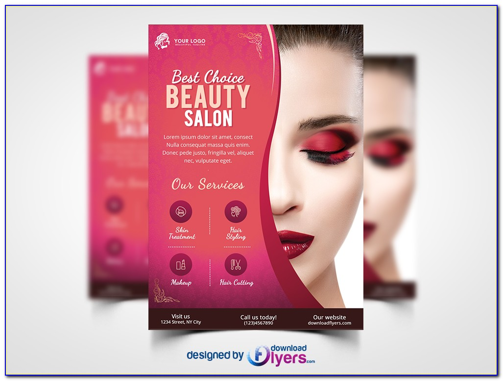 Beauty Salon Flyer Template Free