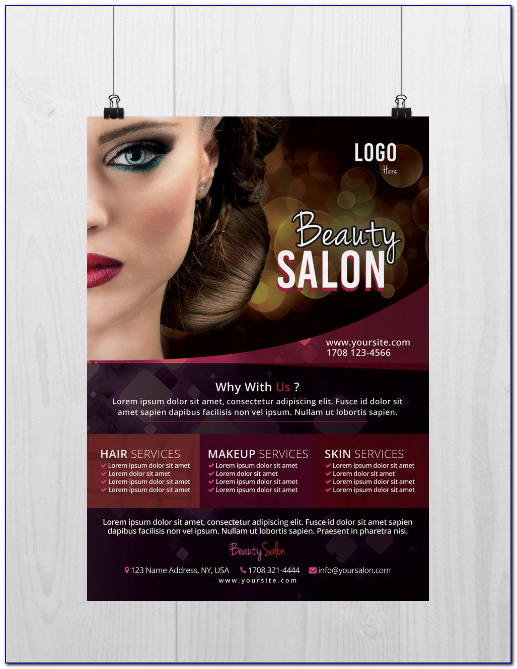 Beauty Salon Flyer Templates Free Psd