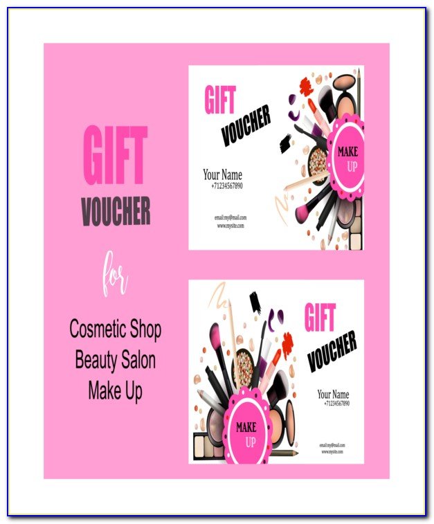 Beauty Salon Gift Certificate Template