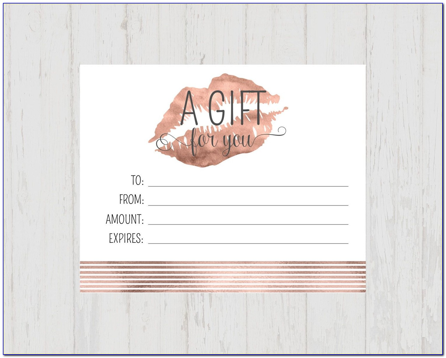 Beauty Shop Gift Certificate Template