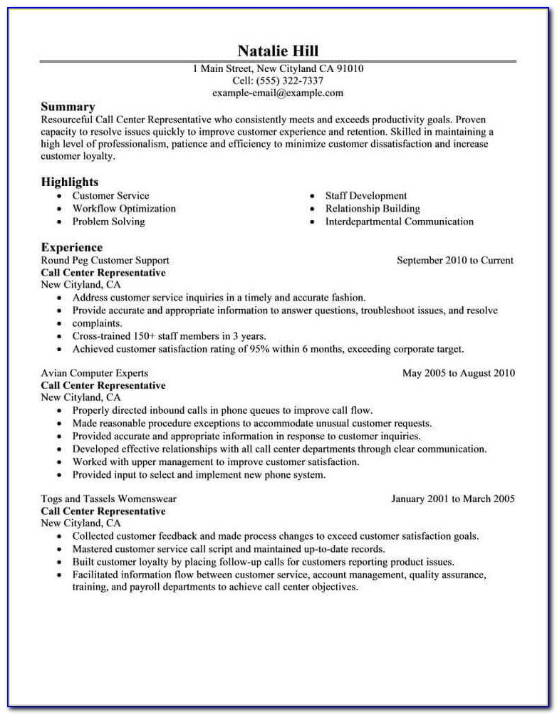 Free Resume Examplesindustry & Job Title | Livecareer For Current Resume Examples