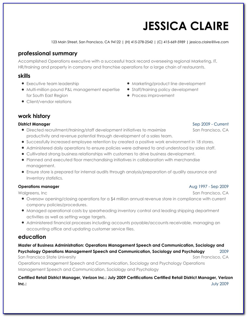 Best Executive Resume Builder