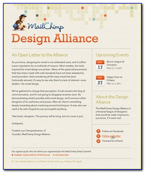 Best Newsletter Templates For Mailchimp