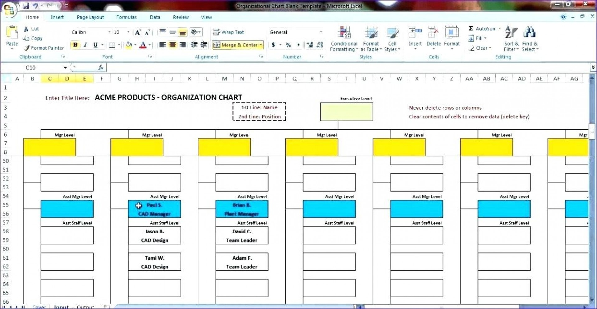Best Organizational Chart Template