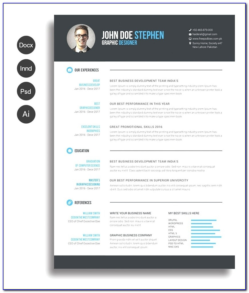 Cv Word Ivedi.preceptiv.co Pertaining To Modern Resume Template Free Download 2018
