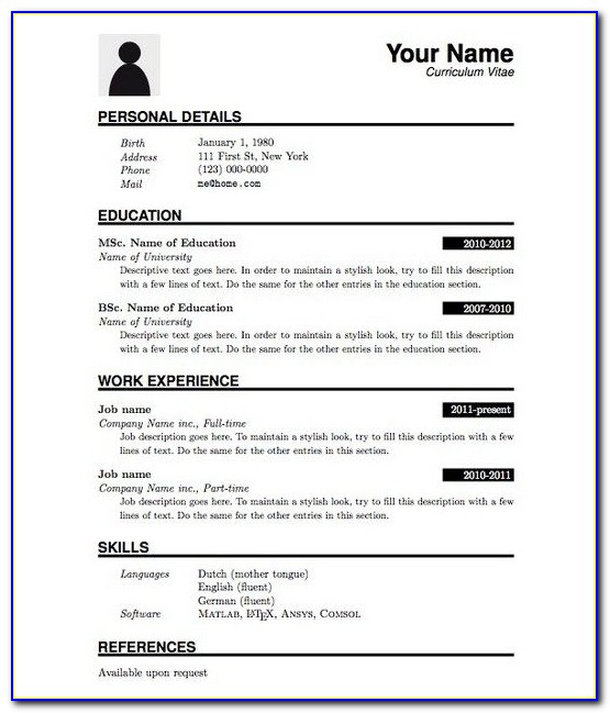 Best Resume Format For Freshers Computer Science Engineers Free Download Pdf