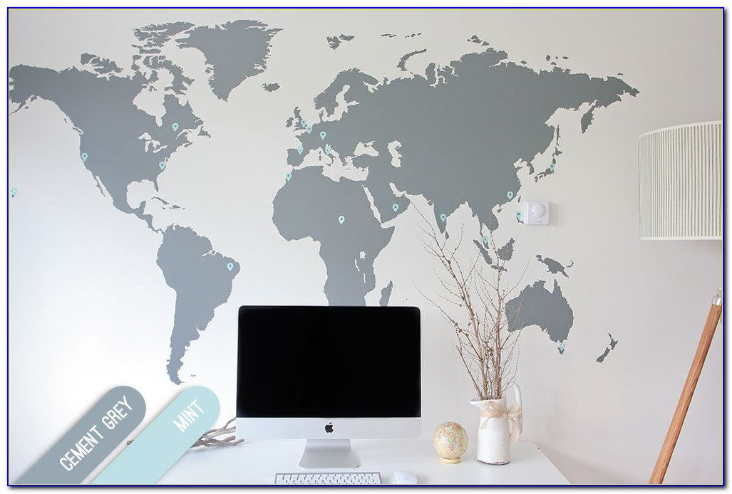 Big World Map Decal