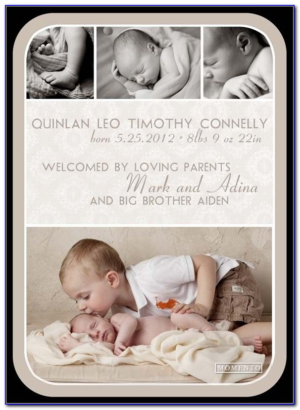 Birth Announcement Template Without Photo
