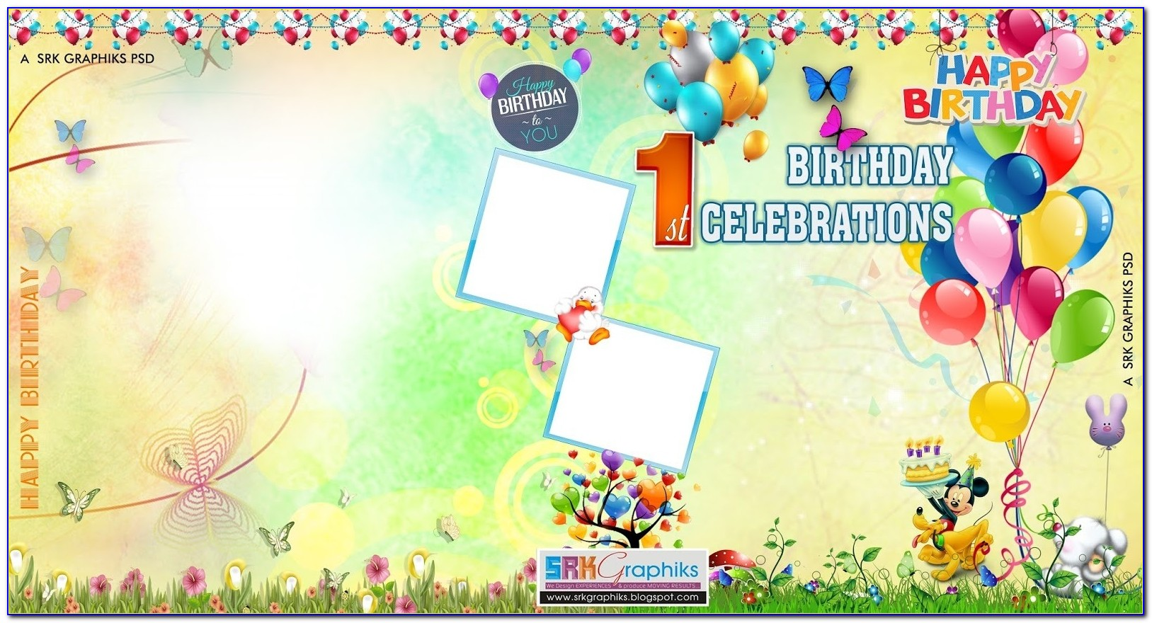 Birthday Flex Banner Design Psd Template Free Downloads Srk Graphics For Birthday Flex Banner Background Design