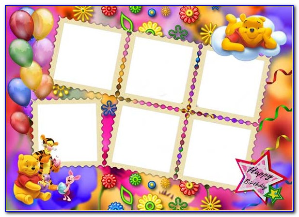 Birthday Card Photo Collage Template