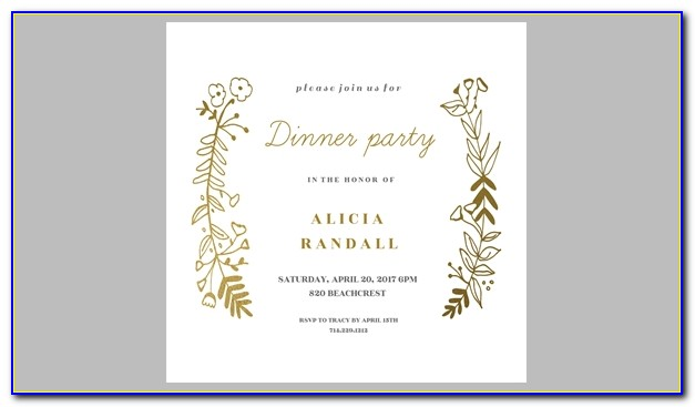 Birthday Dinner Invitation Wording Samples