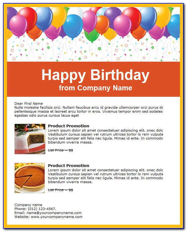 Birthday Email Templates For Outlook