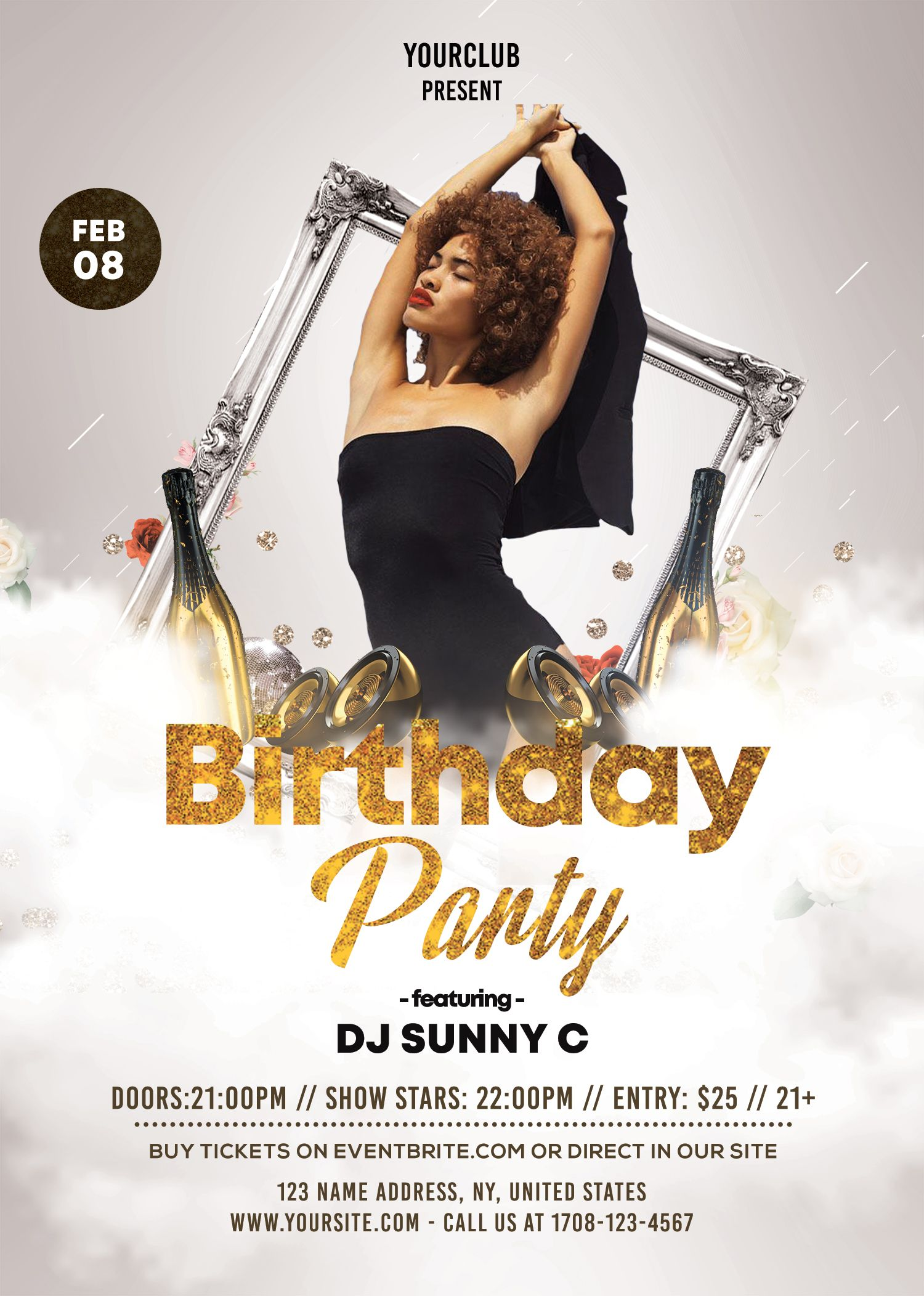 Birthday Flyer Template Psd Free Download