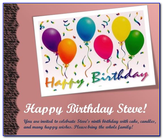 Birthday Party Flyer Template Word