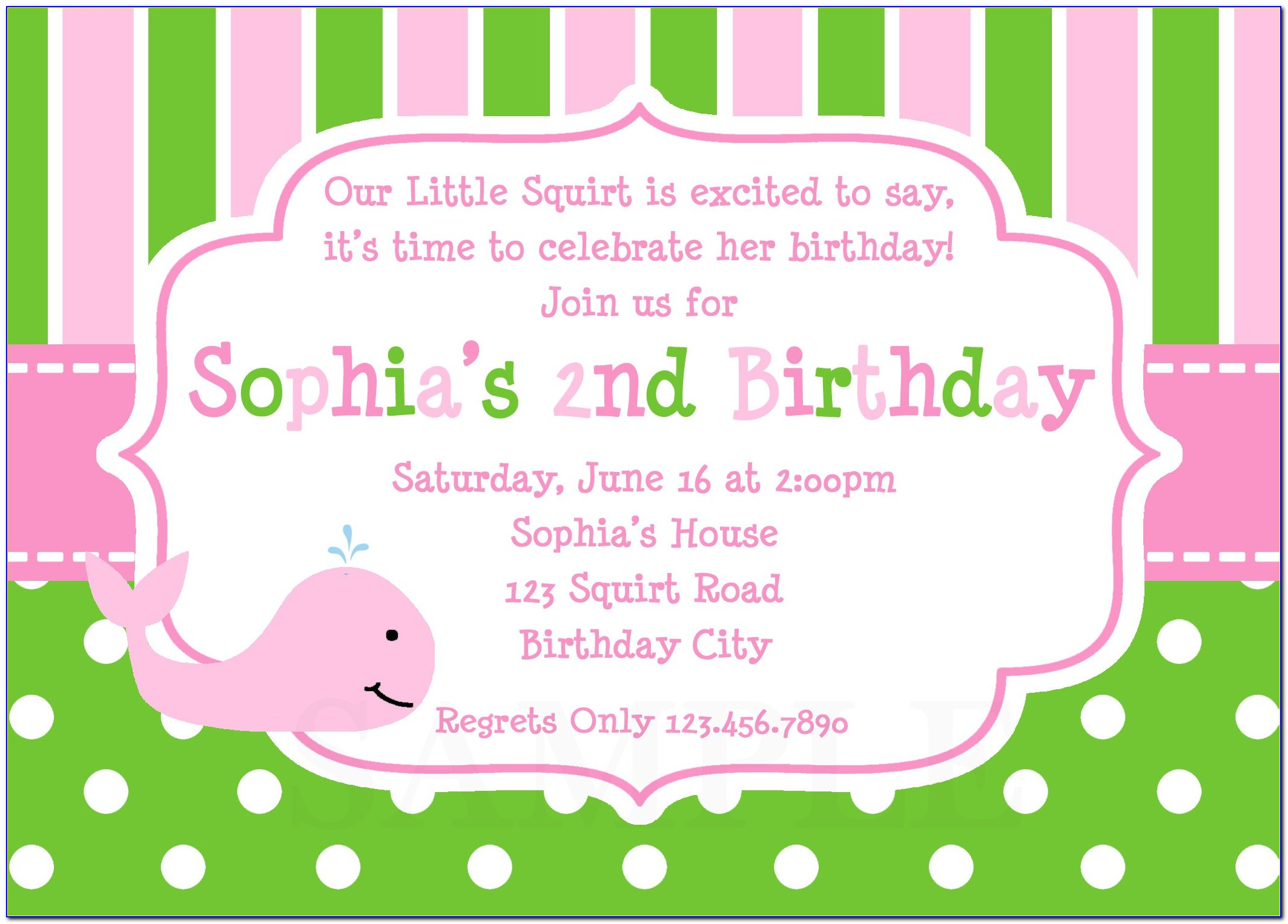 Birthday Party Invitation Card Template Free Download Vincegray2014