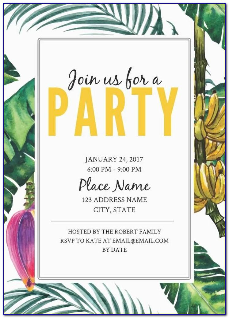 Birthday Party Invitations Templates Free