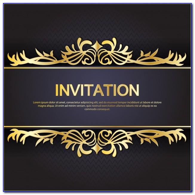 Black And Gold Invitation Templates Free Download