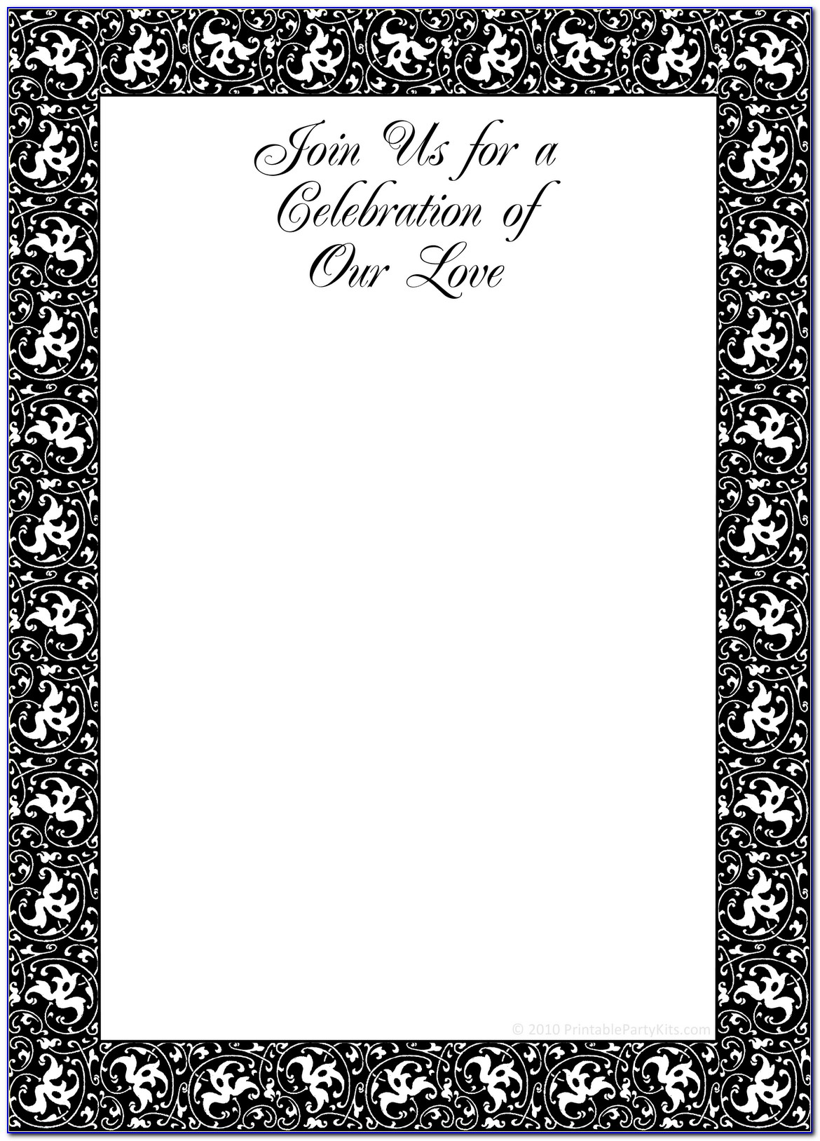 Black And White Christmas Party Invitations Templates