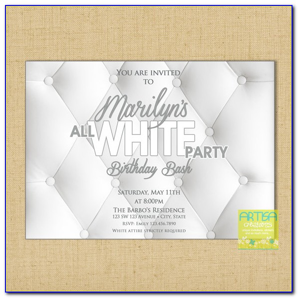 Black And White Party Invite Template Free