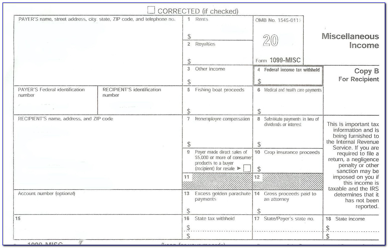 Blank 1099 Forms Free