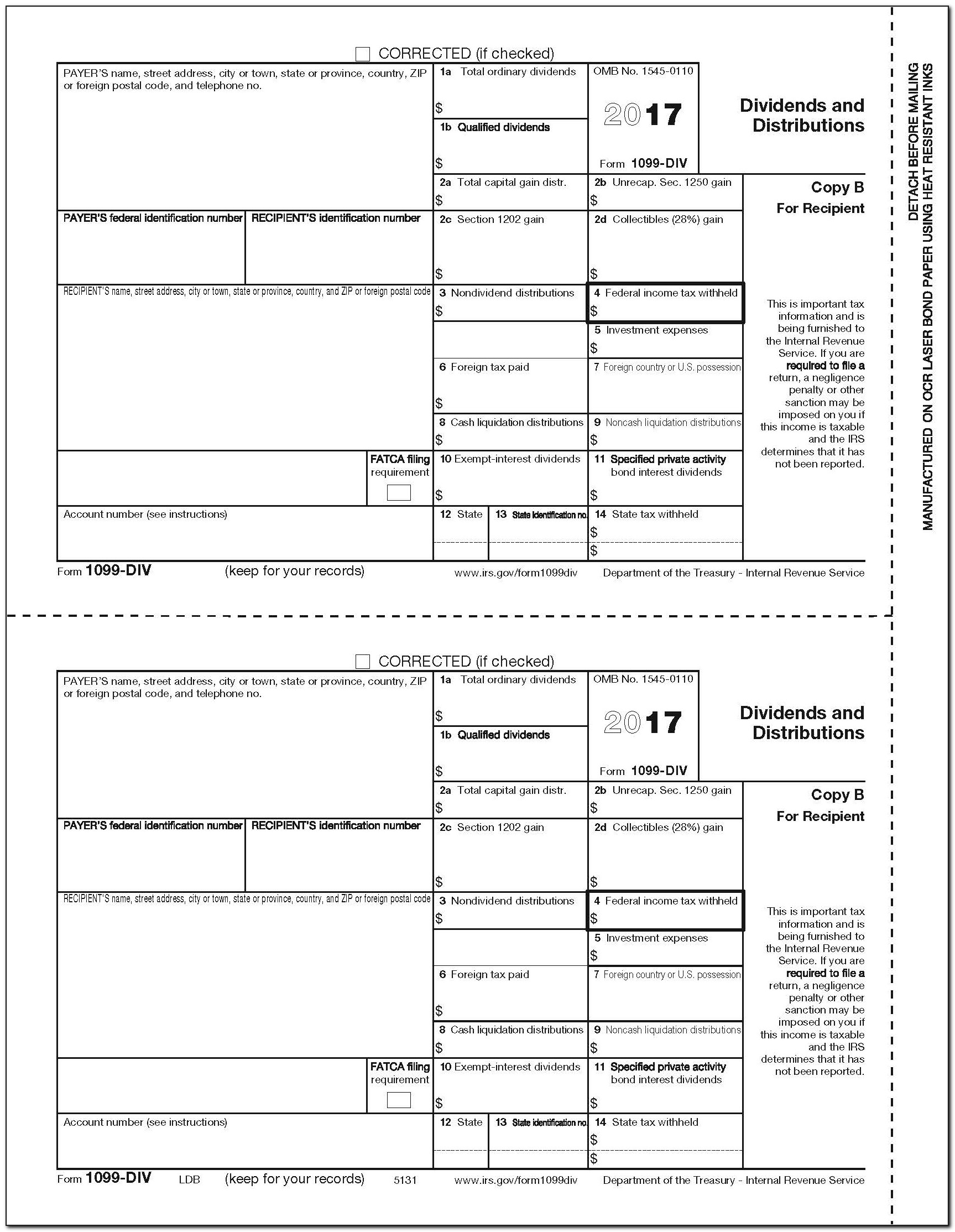 Blank 1099 Misc Form 2014