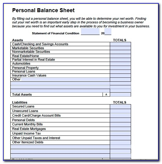 Best Photos Of Balance Sheet Template Pdf Simple Balance Sheet Personal Balance Sheet Template