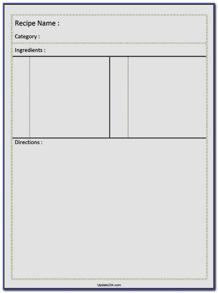Blank Business Card Template Word 2010