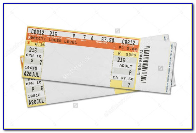 Blank Concert Ticket Template Free