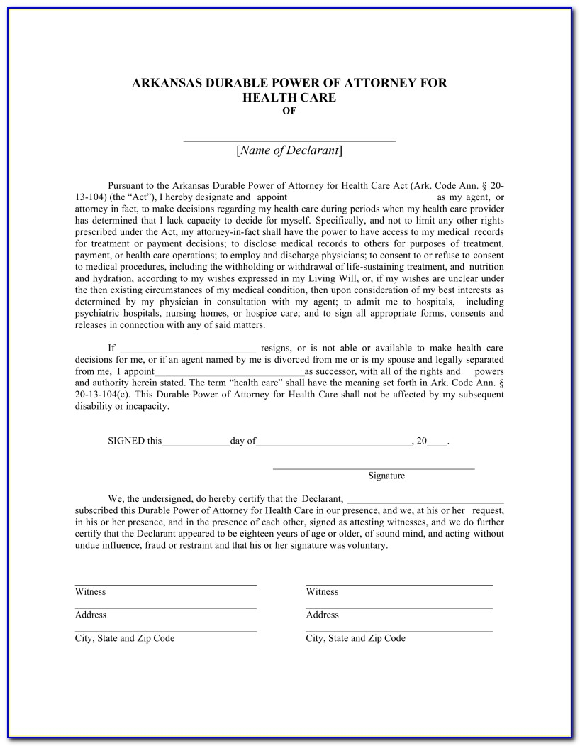 Blank Durable Power Of Attorney Form Wisconsin