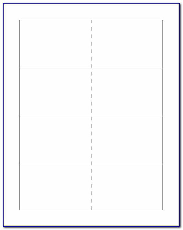 Blank Flash Card Template Pdf