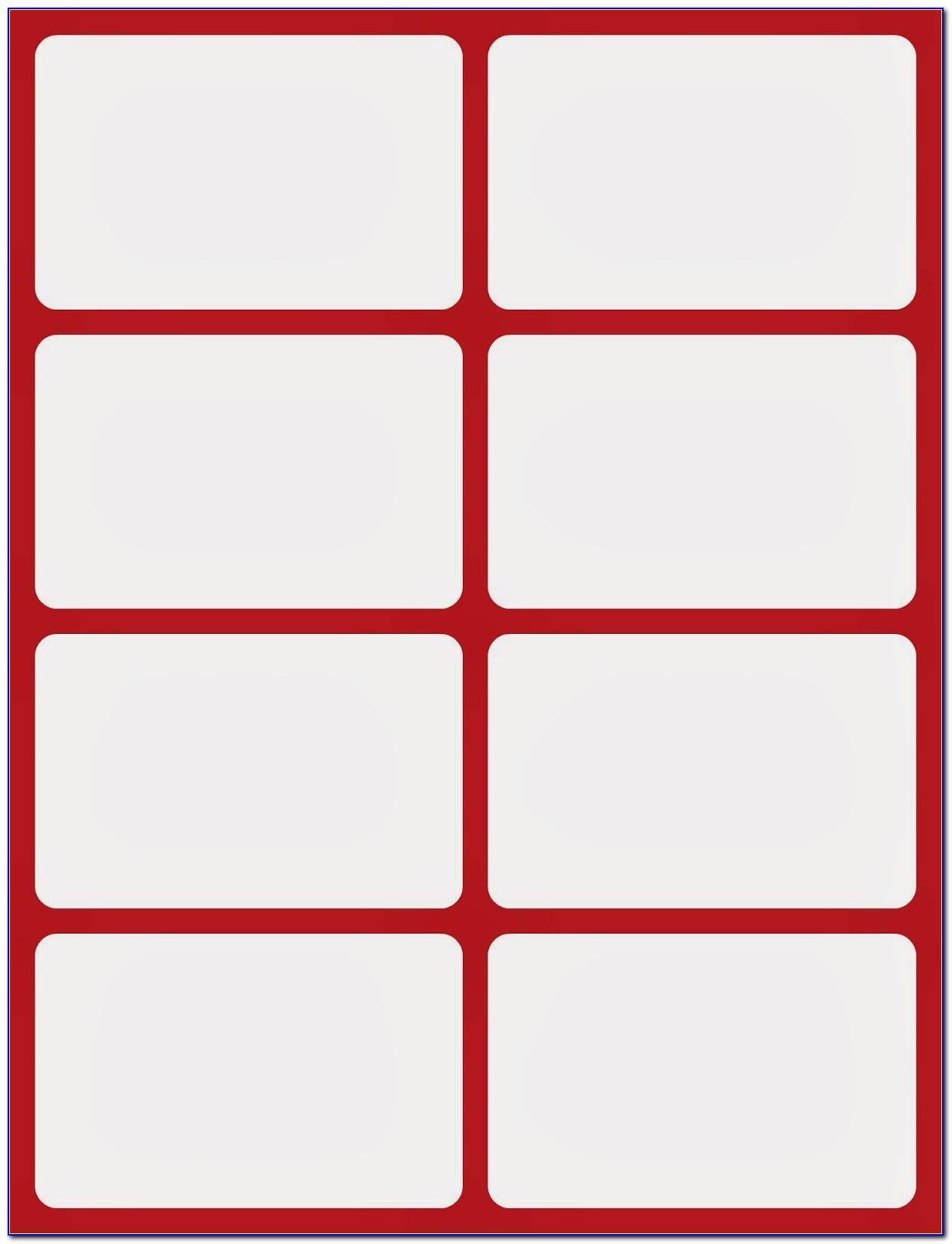 Blank Flash Card Template Word