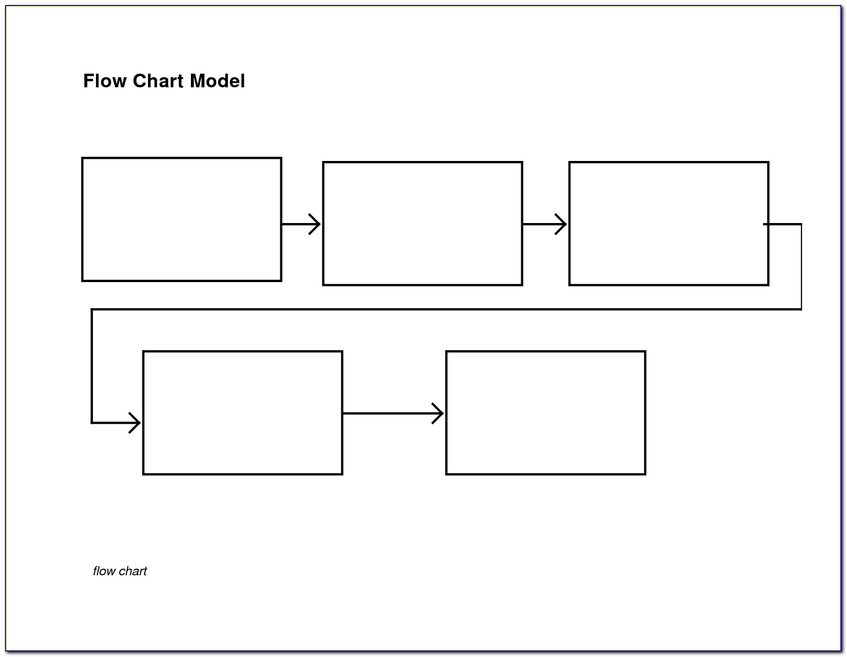 Blank Flow Chart Template For Word Free