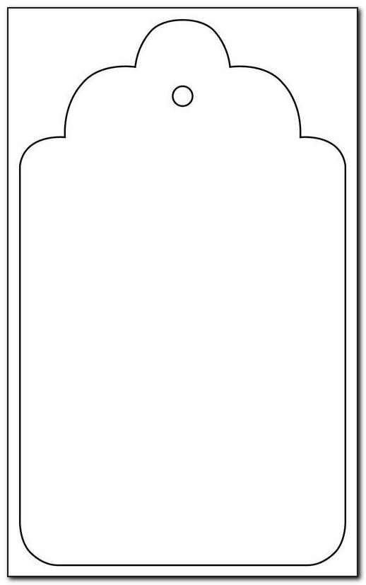 Blank Gift Tag Template Free Download