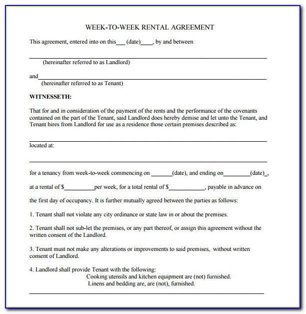 Blank Lease Agreement Template Word