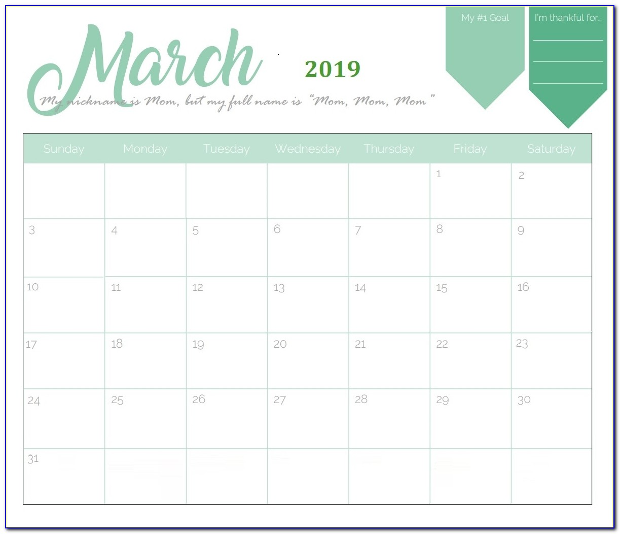 Print 2018 And 2019 Calendar Template With Year Holidays Pdf::monthly 2019 Holidays Calendar Templates