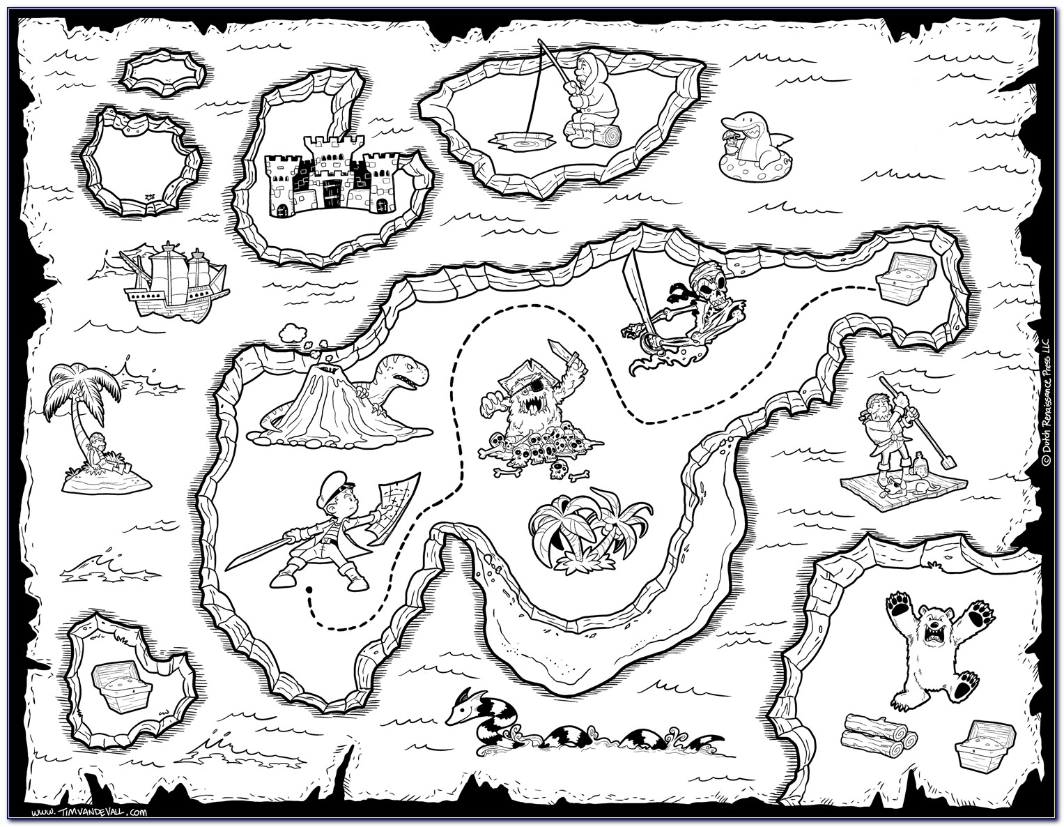 Blank Pirate Maps To Print