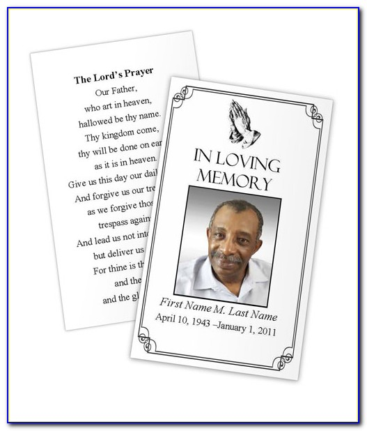 Blank Prayer Card Template Free