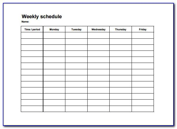 Blank Staffing Schedule Template