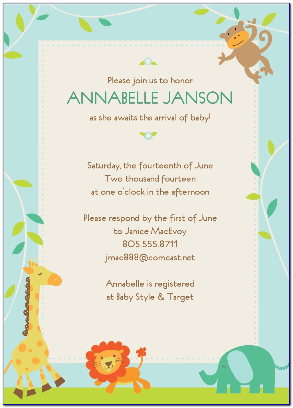 Blank Template For Baby Shower Invitations