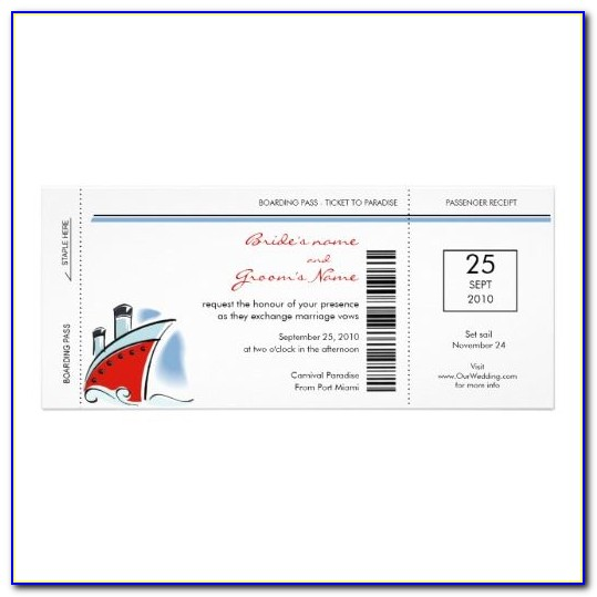 Boat Party Ticket Template