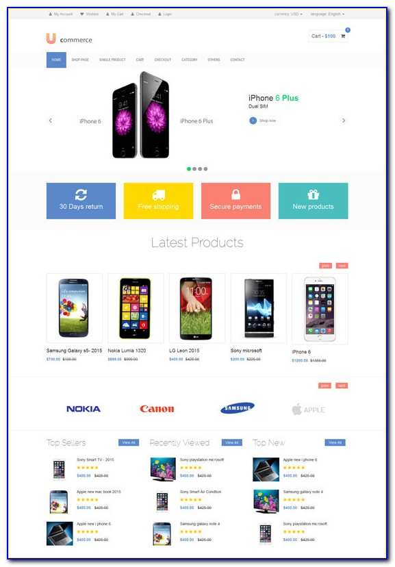 Bootstrap Ecommerce Website Template Free Download