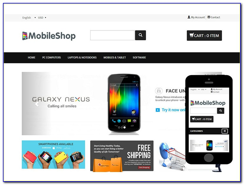 Bootstrap Ecommerce Websites Templates Free Download