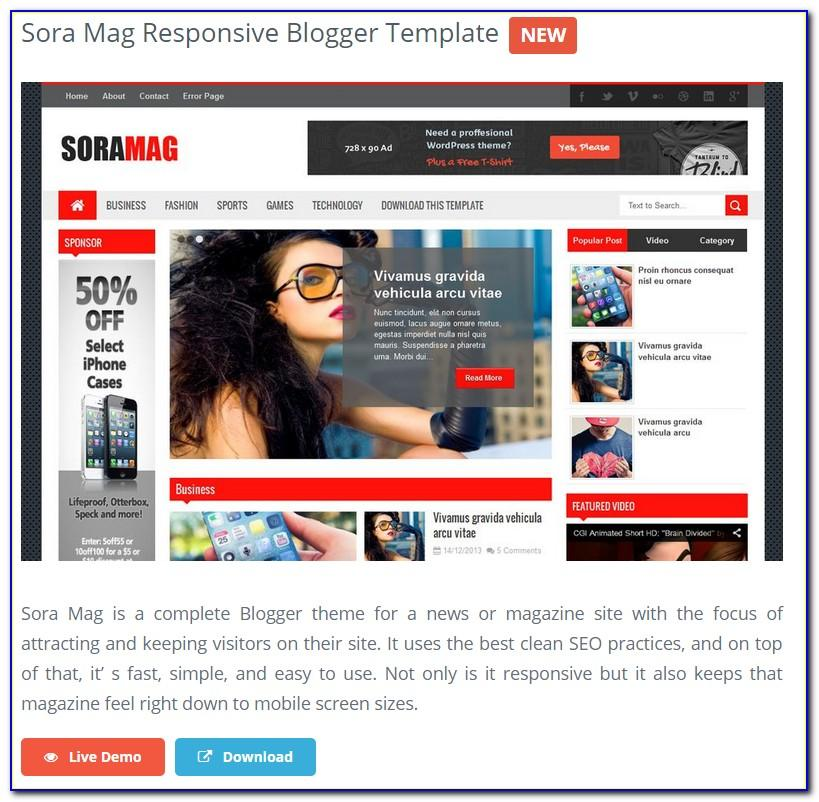 Bootstrap Responsive Blog Website Templates Free Download