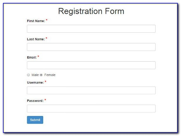 Bootstrap Student Registration Form Template Free Download