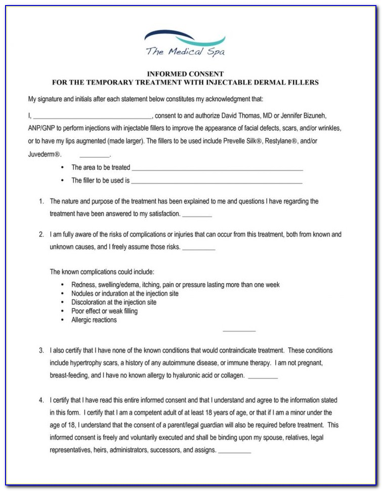 Botox Consent Form Template