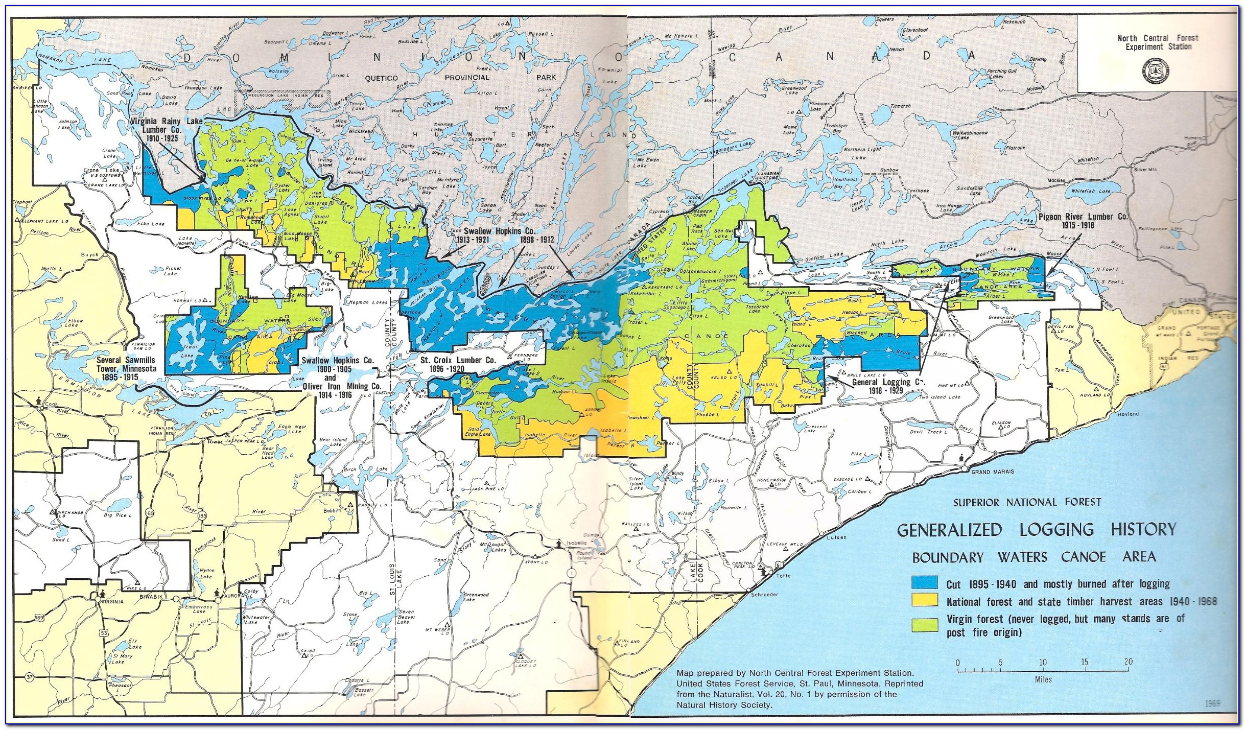 Boundary Waters Maps Fisher